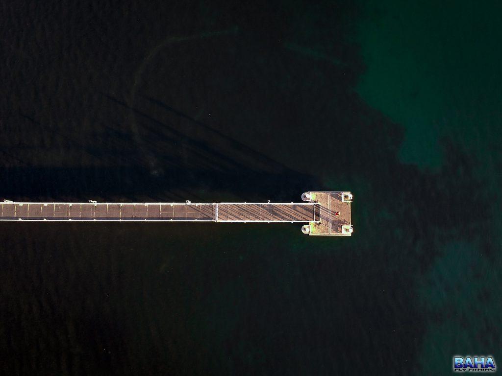 An aerial shot at Lake Macquarie