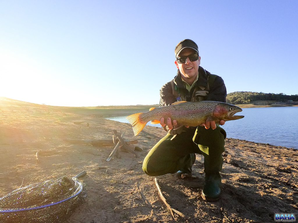 Warren with an Oberon rainbow trout
