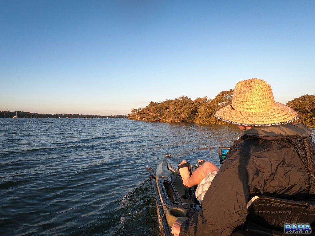 Kayak fishing Tilligerry Creek