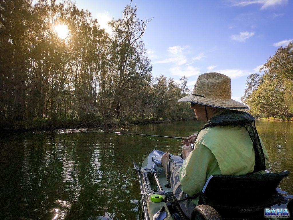 Fly fishing Budgewoi Creek