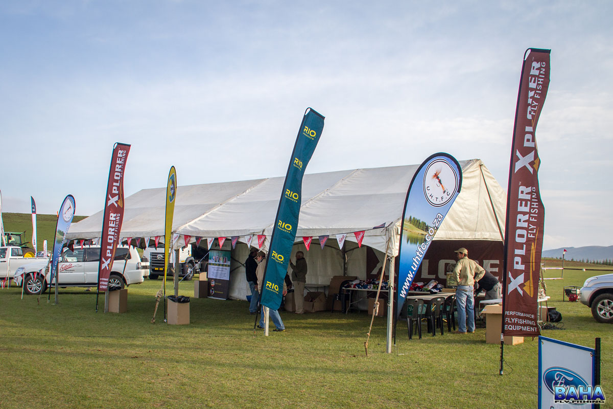 The club's tent for the UHTFC Xplorer Fly Fishing Festival