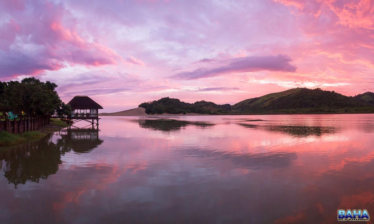 Sunset at Umngazi River Bungalows