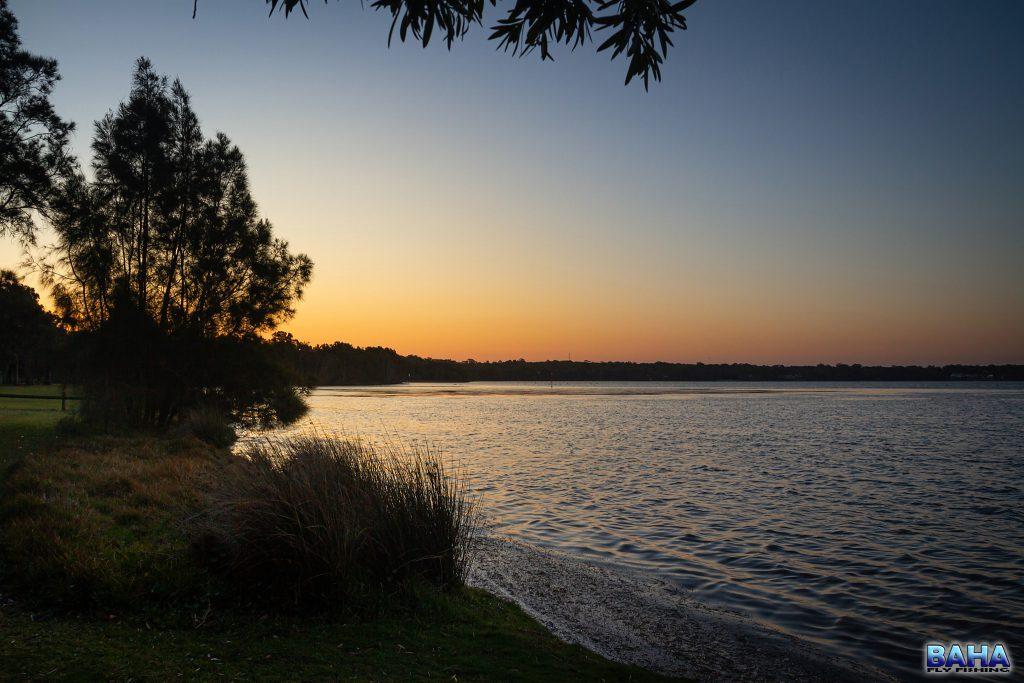 Sunset over Lake Munmorah