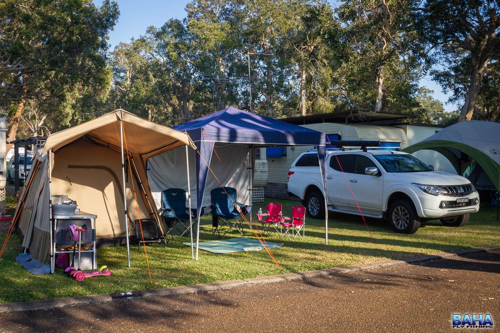 Our campsite at Budgewoi Holiday Park