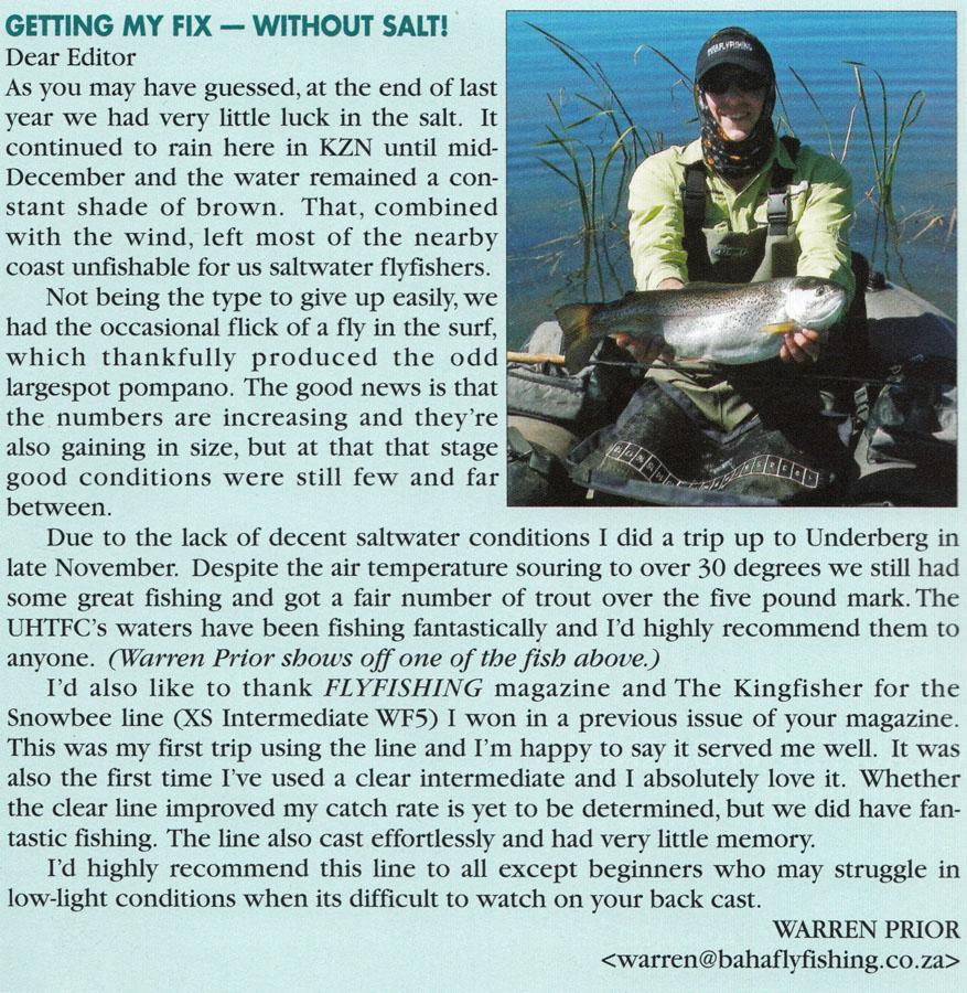 Baha Back In Africa's Original Flyfishing Magazine