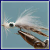 Squid: A combination of a few squid patterns I looked at. The hackle gives it a great action in  the water. Does well for springer and kingies.