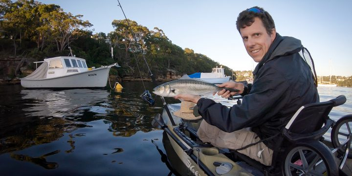 Aussie Salmon on the New Rod
